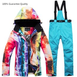 Waterproof Climbing Jacket Australia - High-quality Ski Suit Winter Jacket+pant Waterproof Windproof Climbing Mountains Outdoor Ski Suits Snowboarding Sking Clothes