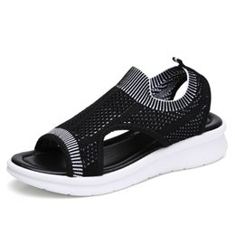 $enCountryForm.capitalKeyWord NZ - Women Sandals 2019 Casual Female Shoes Women Summer Wedge Comfort Sandals Ladies Flat Slingback Flat Sandals Women Sandalias Travel Style