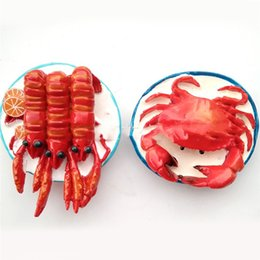 $enCountryForm.capitalKeyWord UK - Lychee Lobster Hairy Crab Fridge Magnet Creative Funny Fridge Magnets Souvenir Modern Home Kitchen Decor