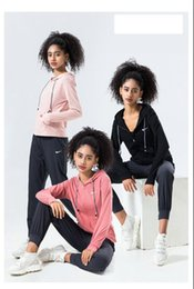 longer length sweatshirts Canada - 2020N1ke new Womens Hoodies two Piece outfits set tracksuit Fall Winter long sleeve sweatshirt Leggings Zipper Pants sweatsuit Sportswear