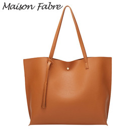 Ladies Shoulder Strap Handbags Australia - Maison Fabre Bag women Leather Shoulder bag strap handles Tassel Shopping large Capacity 2019 Elegant ladies square handbags