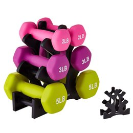 Discount lift stands Weight Lifting Dumbbell Rack Stand Dumbbell Weightlifting Holder Floor Bracket Home Exercise Equipment Weight Support