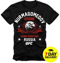 Großhandel E1SYNDICATE T-Shirt KHABIB NURMAGOMEDOV DER EAGLE MMA UFC RUSSLAND DTG S-3XL