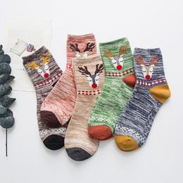 $enCountryForm.capitalKeyWord UK - Women Socks cotton Sock Fashion Christmas Socks Sika Deer Striped Female Funny comfortable cotton calcetine fza0120