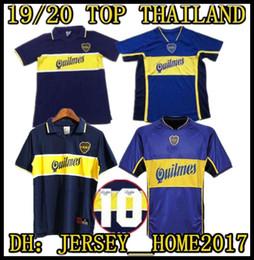 60c30aeda61 1997 98 Boca Juniors Retro Soccer Jersey Maradona Vintage Caniggia 1997 1998  2001 MAGLIA Classic Football Shirts Maillot Camiseta de Futbol