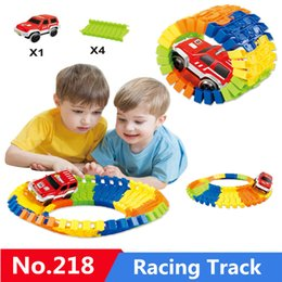 cars toys track 2019 - Assemble DIY Railway Road Flexible Track Railroad Flex Educational Magical Race Tracks Set Rail Car Toys Model For Child