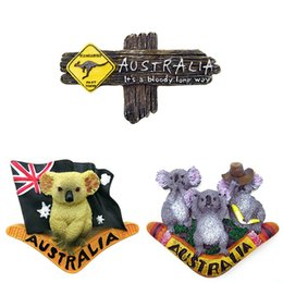 cartoon kangaroos NZ - Refrigerator Magnet Australian 3D Kangaroo Fridge Magnets Sticker Wall Magnet Home Decoration Tourist Souvenir Arts Crafts