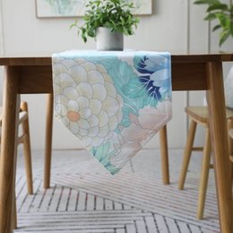 $enCountryForm.capitalKeyWord UK - Cotton table runner colorful floral printed table runners for wedding American style dinning runner placemats bed runners