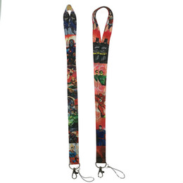 Discount neck card hang rope - New Movie Neck Lanyards for Keys Neck Strap cord For Keys ID Card USB Badge Holder Mobile Phone Hang Rope