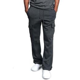 Wholesale men cotton lounge resale online - Men s Elastic Sweatpant Men s Sweatpants Casual Club Drawstring Joggers Workout Sweat Pants Men Cotton Loose Lounge Pants Pocket