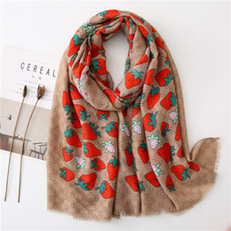 cotton summer scarves Australia - 2020 New Fashion Bohemia Summer Women cotton Scarf Strawberry Beach Hijab Shawls and Wraps Pashmina Female Foulard Bandana T200609