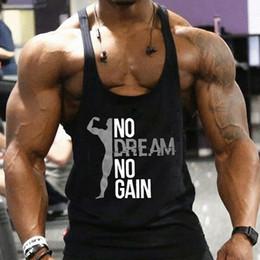 Wholesale muscle singlets for sale - Group buy Men Gym Muscle Bodybuilding Sleeveless Shirt Tank Tops Singlet Fitness Sport Vest