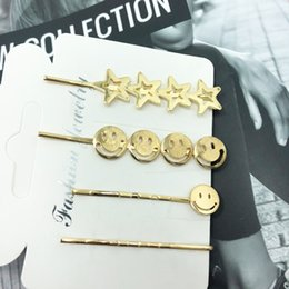 $enCountryForm.capitalKeyWord Australia - 4Pcs lit 2019 New Listing Network Fashion Popular Simple Hairpin Factory Direct Sales Matching Set Of Wholesale
