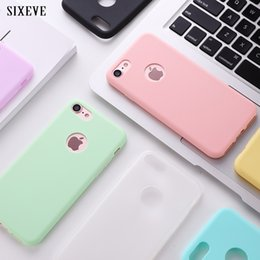 $enCountryForm.capitalKeyWord Australia - SIXEVE Soft Silicone Case for iPhone 6 S 6S iPhone 7 8 Plus 5 5S X 10 XR XS Max 6Plus 7Plus 8Plus Cute Candy Color rubber Cover