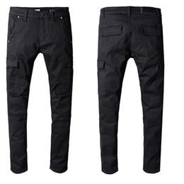 Elastic waist trousErs online shopping - Mens Designer Pants Loose Casual Cotton Mens Designer Jeans Trousers Man Students Male Pantalones Mens Jeans