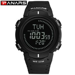 resistance electronics 2020 - PA Resistance When panars Outdoor Waterproof Sports Students Electronic Watch Multifunctional Compass World Time Watch c