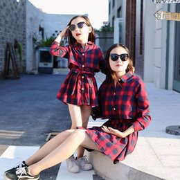 $enCountryForm.capitalKeyWord UK - Quality Cotton Mommy Me Clothes Plaid Mom And Dress Outfits Matching Mother Daughter Clothing Girl Family Look Q190524