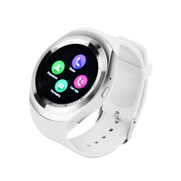 $enCountryForm.capitalKeyWord UK - Y1 SmartWatch Touch Screen Support SIM Card with Pedometer Sleep Mode, Compatible iOS Android Smartphone (White)