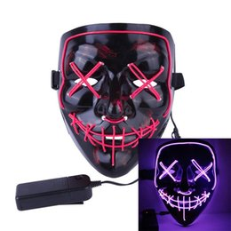 masquerade costumes for kids NZ - 201909 Women Men Halloween Party Mask 10 Colors LED Light Up Party Masquerade Horror Glowing Masks Cosplay Costume for Kids Gift M553F