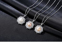 Pearl Necklaces Pendants NZ - S925 Sterling Silver Necklace Snowflake Pendant Freshwater Pearl Boutique Jewelry Pendant Female Gift Cs54 J190611