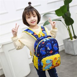 kids dinosaur backpacks Canada - New Dinosaur Printing Oxford Backpacks Student Boys Girls Kids Cartoon Dinosaur Animal Backpack Toddler Cute Rucksack School Bag