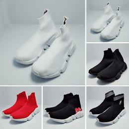 2d234e242 2019 New Paris Speed Runner Knit Sock Shoe Original Trainer Runner Sneakers  Race Mens Women Sports Shoe Without Box Best Quality