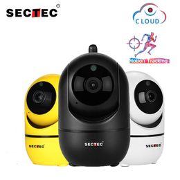 SECTEC 1080P Cloud AI sans fil AI caméra IP intelligente Intelligent Auto Tracking de réseau de vidéosurveillance surveillance à la maison humaine CCTV en Solde