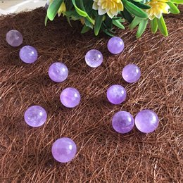 $enCountryForm.capitalKeyWord Australia - Glossy Purple Healing Crystals Fengshui Amethyst Ball Ornament Round Bead Pellet Jewelry accesso Energy Spar Geomantic Omen Hot Sale 3 5xjC1