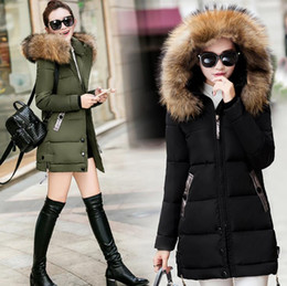 Womens plus size doWn jackets online shopping - Plus Size Womens Designer Jackets Fashion Slim Medium Long Hooded Parkas Women Winter Thickened Warm Coat