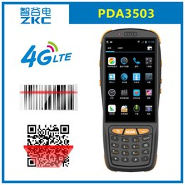 4g android mobiles 2019 - ZKC PDA3503 GSM 3G 4G WiFi RFID NFC Android Mobile Portable 2D CMOS Barcode Scanner Inventory discount 4g android mobile