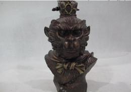 China Figure Australia - New +SCY Collectible bronze lion statue S0075 9 China Copper Monkey King Famous Myth Sun Wu kong SunWuKong Head Bust Figures B0403