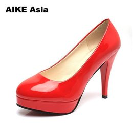 $enCountryForm.capitalKeyWord NZ - Designer Dress Shoes Plus Size 34-42 Women High Heels Pumps Basic Dress Platform Pump Boat Woman White Wedding Spring Autumn Sexy Bridal