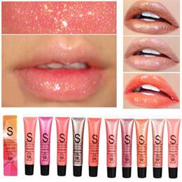 Discount wholesale glitter lipstick - Professional Brand Lip Make Up Diamond Glitter Waterproof Lip gloss Long Lasting Moisturizer Shimmer Nude Lipstick Liqui