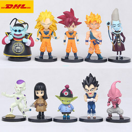 $enCountryForm.capitalKeyWord Australia - 10 Pcs set Q Version Dragon Ball Son Goku Frieza Majin Buu Super Saiyan God Vegeta IV Whis Creative Plastic Action Model Toy 5-10CM OPP G121