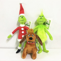 Free Christmas Gifts For Children Australia - Free Shipping How the Grinch Stole Christmas Grinch Max Dog Plush Toy Doll Soft Stuffed Toys for Children Kids Xmas Gifts