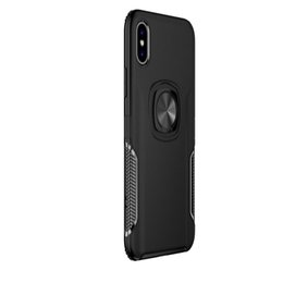 Car Phone Holders For Iphone UK - NEW Magnetic Cellphone Cover Ring Car Phone Holder Kickstand Case for iPhone XR XS MAX X 8 7 Plus Samsung Note 9 S9 Huawei Mate 20 Xiaomi 8