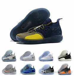 9a5d9a693c4 Kd 11 XI Michigan Multicolor EYBL Black Twilight Doernbecher Red Paranoid Persian  Violet BHM Kevin Durant 11s Mens Basketball Shoes 40-46
