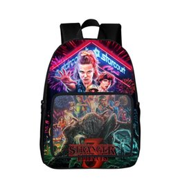 Wholesale 16 quot quot Stranger Things Backpack Bag School Book Laptop Computer Child Students Back School Cartoon Gift