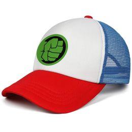 ff869ff764911d Hulk Custom UK - The Incredible Hulk logo Angry fist kids baseball caps  Vintage Teen baseball