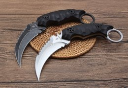 Strider fixed blade hunting kniveS online shopping - strider Shadow Claw knife D2 HRC karambit Outdoor Hunting Knife Camping Survival Fixed Blade Knife freeshipping