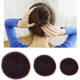 Foam Bun Accessory Australia - M MISM Female Hair Donuts Bun Maker Round Styling Hair Fold Foam Accessories for Women Curler Roller Holder Quick Dish wear
