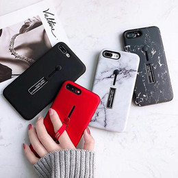 Wholesale 3D Marble Pattern Luxury Designer Case for IPhone X XS MAX XR S Plus I Phone plus with Finger Ring Stand Cases Back Cover