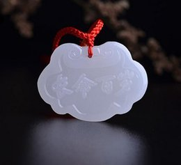 Necklaces Pendants Australia - The independent design of 2017 natural products Afghanistan white jade lock longevity lock pendant pendant lucky baby