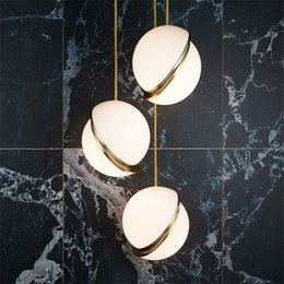 $enCountryForm.capitalKeyWord Australia - Modern White Acrylic Ball Pendant Light Magic Bean Molecular Milk white Suspension Lamp For Study Simple Home lighting G932