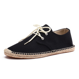 $enCountryForm.capitalKeyWord NZ - Stephoes Men Wrap Canvas Shoes Male Espadrilles Fisherman Loafers Boat Driving Shoes Linen Breathable Driving
