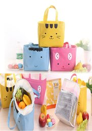 Wholesale Japanese and Korean cartoon cute portable thick expression lunch bag ice pack lunch box bag DC575