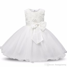 $enCountryForm.capitalKeyWord UK - Baby Girl Christening Gowns Newborn Bebes 1 Year Birthday Dress Fuffly Baby Frocks Designs Infant Princess White Party Costume 0-2 Years