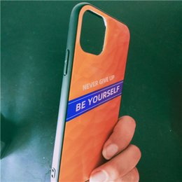gradient tpu iphone case NZ - PC Phone Case for iphone 6 7 8 11 8p X Xs Xr Xs max Gradient Color Never Give up TPU Shockproof Cover
