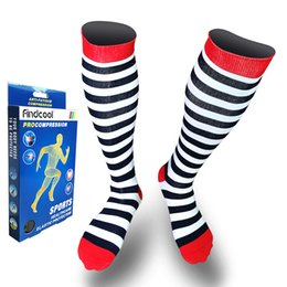 2c68f01edf wholesale Medium Graguated Compression Knee High Socks for Men Women Breathable  Travel Activities Fit for Nurses Shin Splints Flig