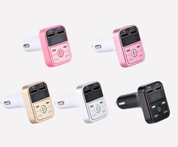 Micro car player online shopping - 2019 B2 Bluetooth Car Kit MP3 Player With Handsfree Wireless FM Transmitter Adapter V A USB Car Charger B2 Support Micro SD Card by DHL